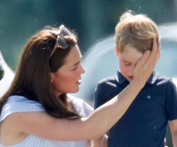 Kate comforts a weeping Prince George.