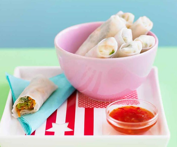 The perfect lunch: quick and delicious rice paper rolls