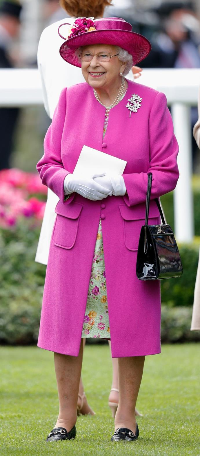 Queen Elizabeth looked pretty in pink at the 2017 Royal Ascot.