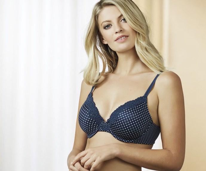 Model wears: Maidenform Comfort Devotion Bra, $54.95 from Farmers
