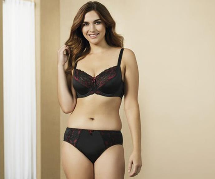 Model wears: Fayreform Sophia Underwire Bra, $64.95 from Farmers