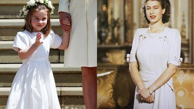 Is it just us or have you noticed that Princess Charlotte really, really looks like her great grandmother, the Queen?