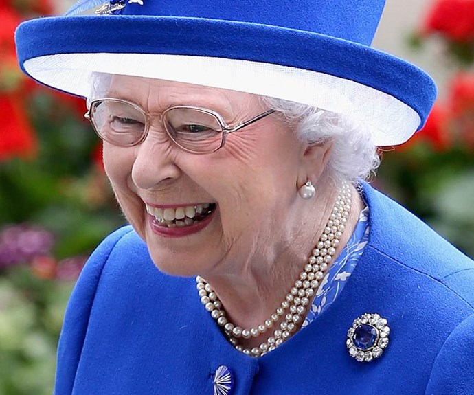 Wonder what made Lizzie burst out laughing at Royal Ascot 2015?