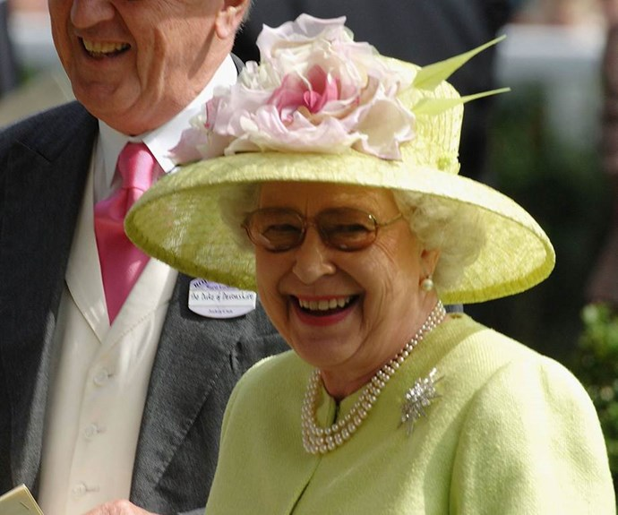 Grinning in green in 2006.