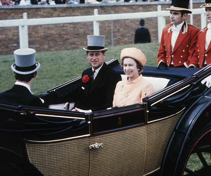 'Orange you glad to see me?' At least, that's what we assume the Queen was saying to herself at Royal Ascot 1970.