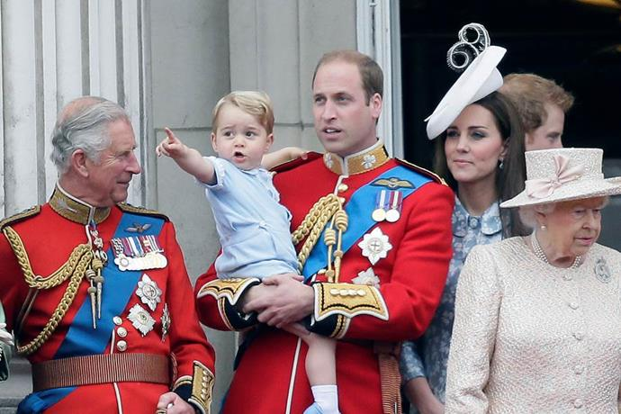 Prince William shows his son the ropes at the timeless tradition of Trooping the Colour.