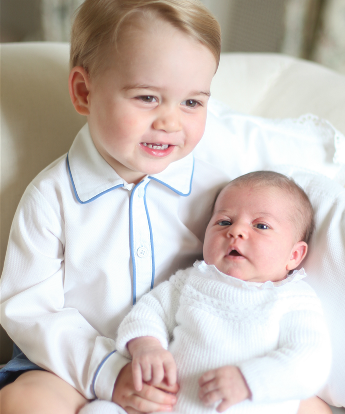 Pictured here with big brother, Prince George.
