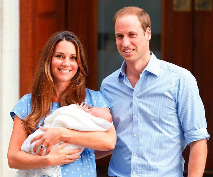 The Duke and Duchess welcomed a baby boy on July 22, 2013.