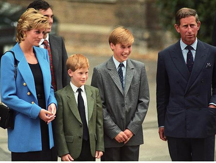 Alongside their parents, the Princes grew up to be charming young boys.