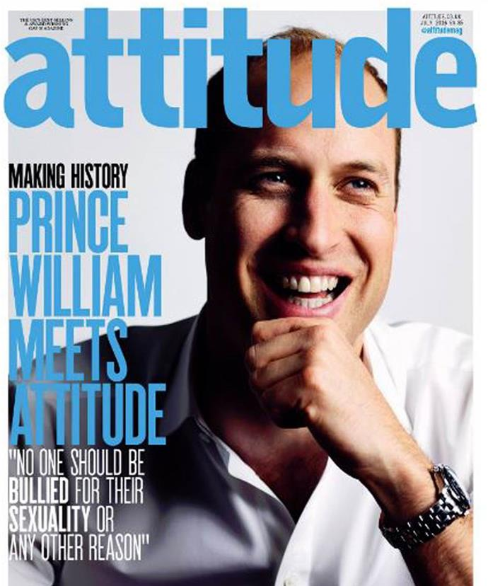 This was the first time a royal ever appeared on the cover of a gay publication.