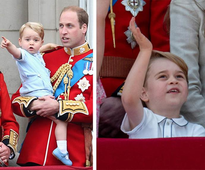 We can see so much of William in his oldest son, Prince George.