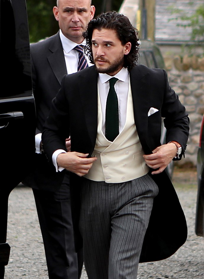 Kit looked dapper in a morning suit.