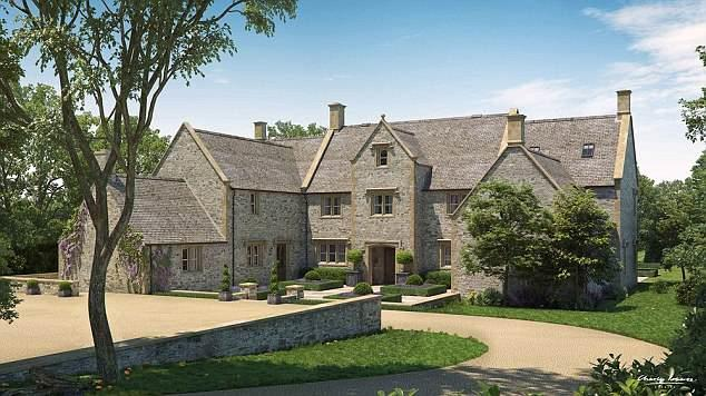 A computer generated image of Harry and Meghan's reported house.