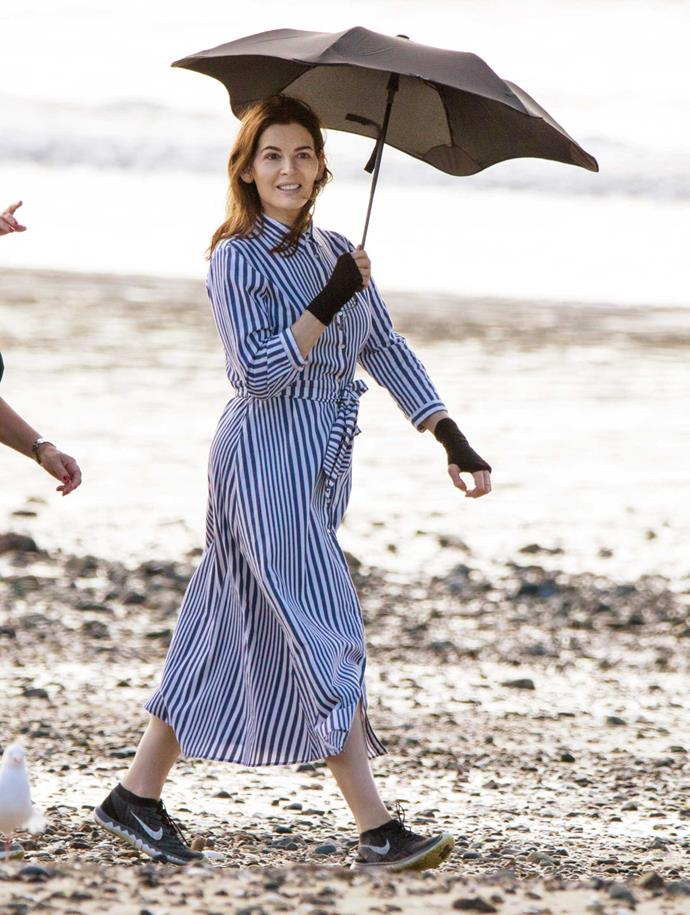 Nigella enjoys a stroll on one of Waiheke Island's beaches.