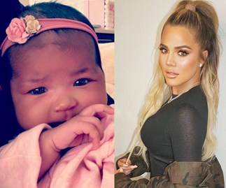 True Thompson and Chicago West are pictured together for the first time and they are beyond adorable