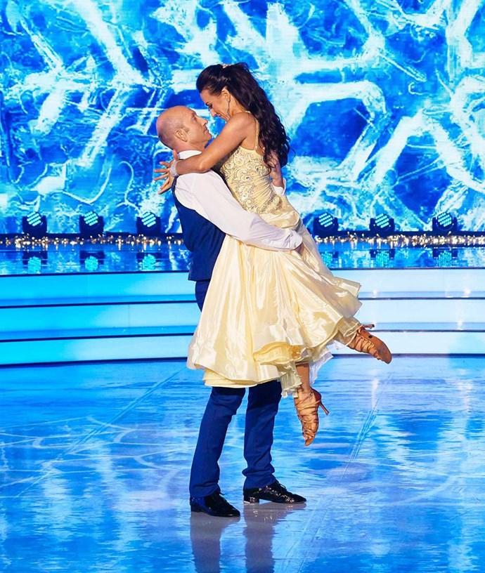 Chris and dance partner Vanessa Cole on *Dancing With The Stars* earlier this year.