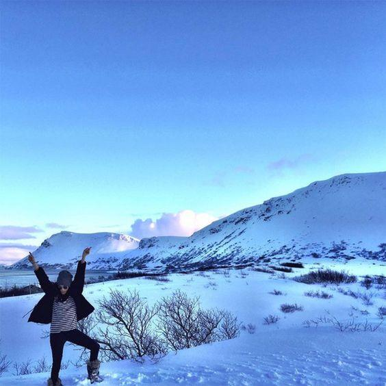 Safe to say Meghan thoroughly enjoyed her trip to Iceland!