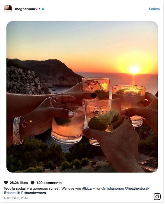 This moment from Meghan's trip to Ibiza looks perfect!