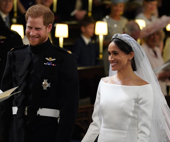 Prince Harry and Meghan at their wedding.