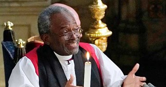 Bishop Michael Curry shares the moment he knew Harry and Meghan were in love