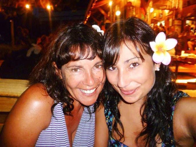 Michele and Holly, then 17, in Rarotonga in 2011.