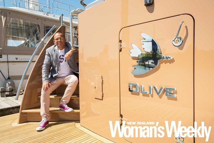 Paul designed the boat with his beloved mum Olive in mind.