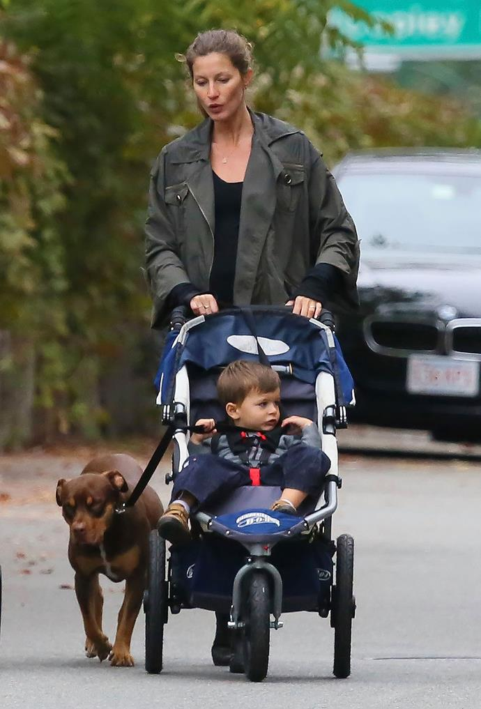 **Gisele Bündchen practices elimination communication.**  The model decided to potty train her son Benjamin from birth, so she carried him around completely naked to practice elimination communication. Or in other words, she'd hold him over a toilet whenever he had to go.  That's a lot of commitment!