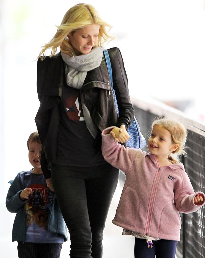 "**Gwyneth Paltrow only let her kids watch shows in French and Spanish.**  The famous mom is pretty determined to have her kids learn different languages. ""Apple was cross as I only let them watch TV in French or Spanish. When I'm in France, I go to Boulevard Beaumarchais and buy all their cartoons,"" she said."