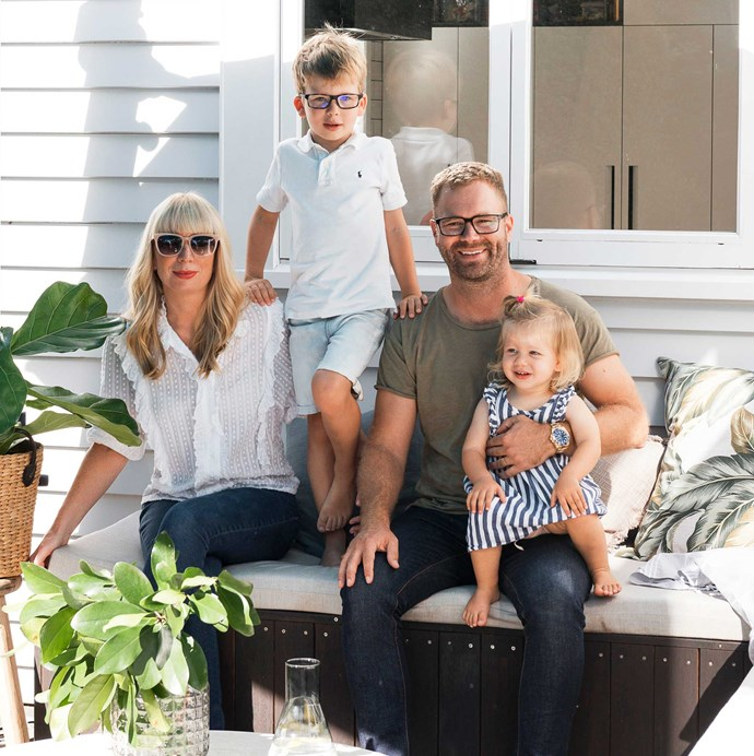 My Food Bag founders Cecilia and James with their children Thomas and Leila.