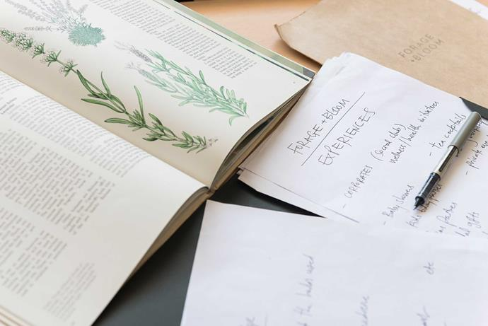 The philosophy at Forage + Bloom is to work with plants that grow in abundance and to be thoughtful about their origins.