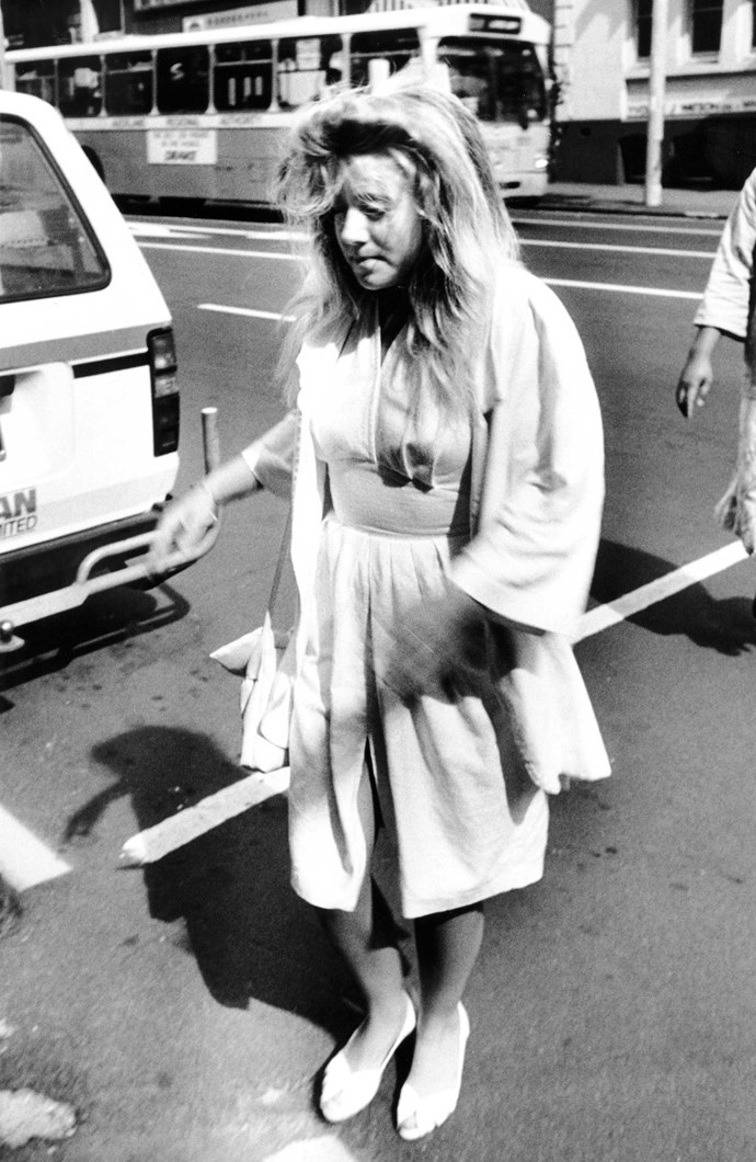 Renee in 1989 after being charged with murder.