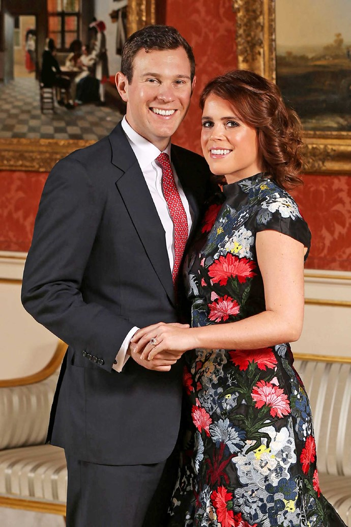 Princess Eugenie with her fiance Jack Brooksbank.