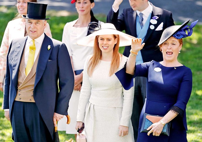This year Fergie joined Andrew and Beatrice in the Queen's viewing box, even giving her former mother-in-law a cheeky wave.