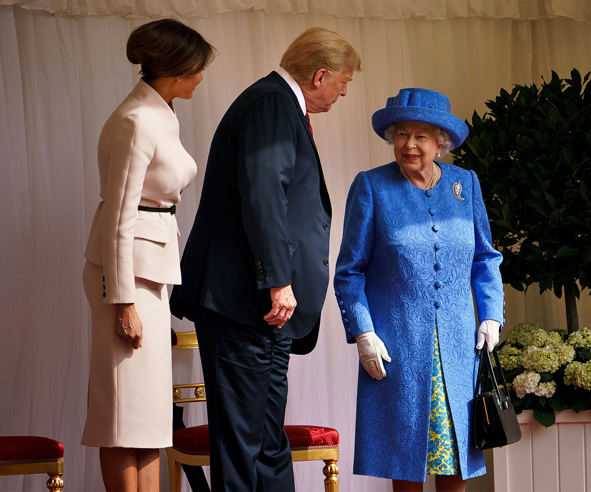 Queen Liz, Shady Binch, Wore An Obama Brooch During Trump's Visit