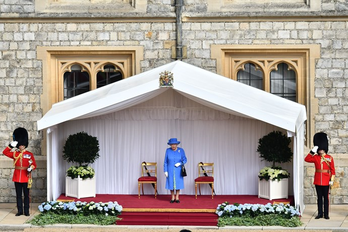 The Queen apparently checked her watch several times while waiting for Donald Trump and FLOTUS Melania Trump.