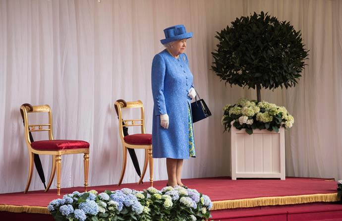 The Queen waited 15 minutes for Donald and Melania to show up.
