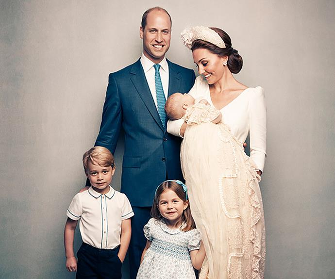 They were a picture of happiness for Prince Louis' official christening portraits last year.