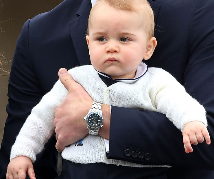 Prince George leaving Wellington after the royal's tour of Australia and New Zealand.