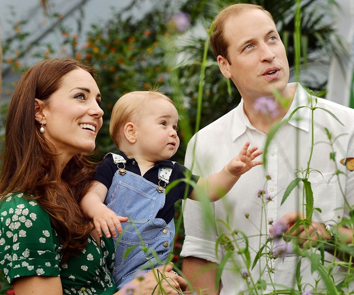 An adorable one-year-old Prince George.
