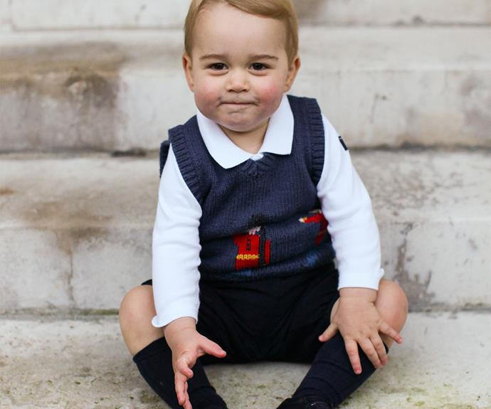 Prince George was one seriously cute toddler - look at those cheeks!