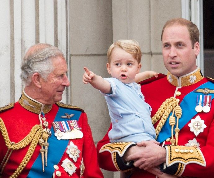 Prince George at Trooping the Colour 2015.