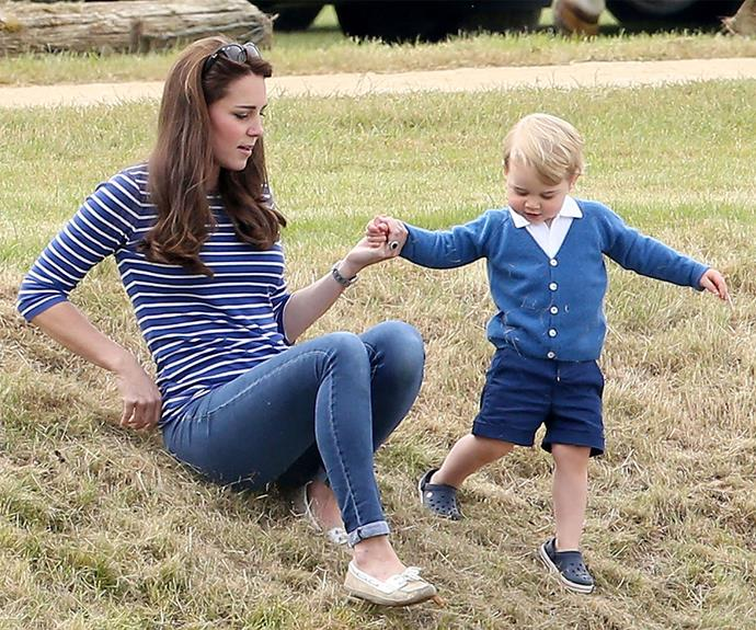 "[Prince George and Duchess Catherine at a charity polo match](https://www.nowtolove.co.nz/celebrity/royals/prince-georges-day-out-at-the-polo-23118|target=""_blank"") together. What an outfit!"