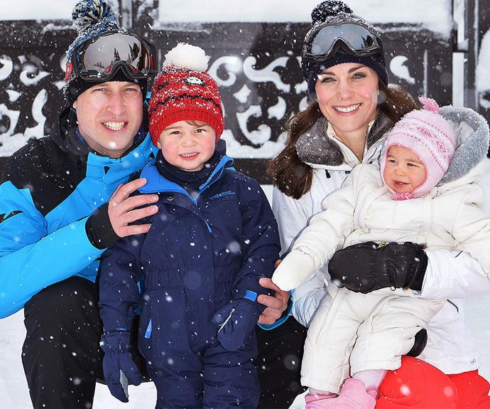 The Cambridge's at the French Alps. What a picture perfect family!