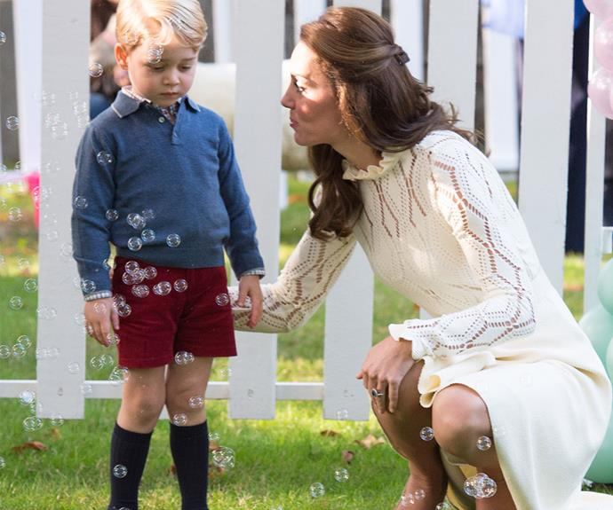 George made us laugh when he attended a children's party on the Cambridge's royal tour to Victoria, British Columbia and looked like he had no fun at all. Cheer up George!