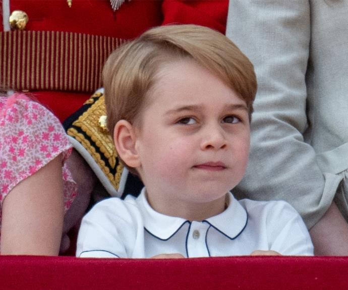 "George was less than impressed at [Trooping the Colour 2018](http://www.nowtolove.co.nz/celebrity/royals/trooping-the-colour-2018-the-best-moments-38071|target=""_blank""). This may have been after his cousin Savannah tried to quieten him by placing her hand on his mouth."