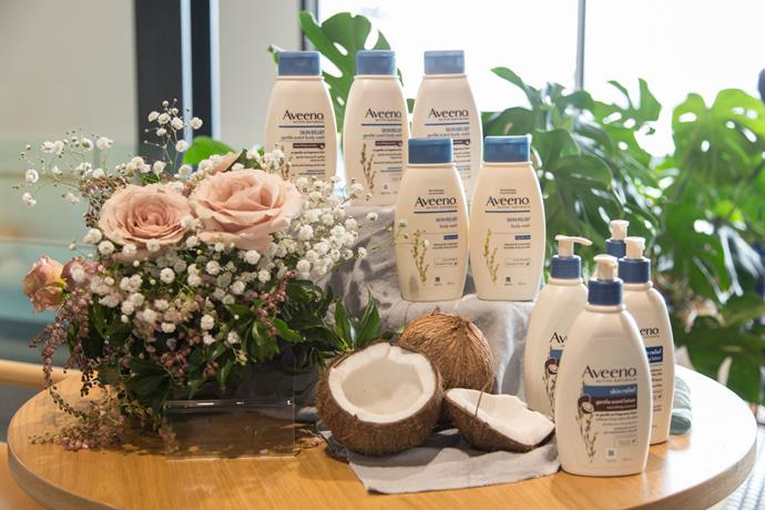 "Gorgeous coconut scented [Aveeno skincare](https://www.aveeno.co.nz/?utm_source=google&utm_medium=cpc&utm_campaign=GO-NZ-ENG-PS-AVEENO-BC-EX-RN-BRAND&utm_term=aveeno|target=""_blank""
