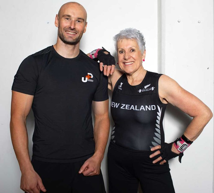 The World Masters champion with her personal trainer Dan.