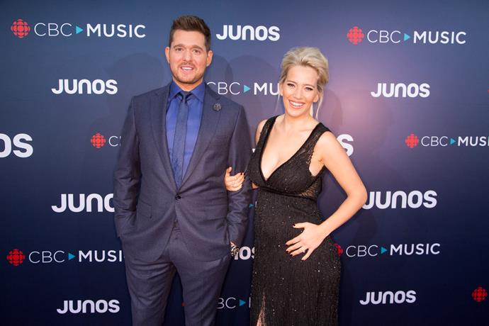 Michael Buble and Luisana Lopilato on March 25.
