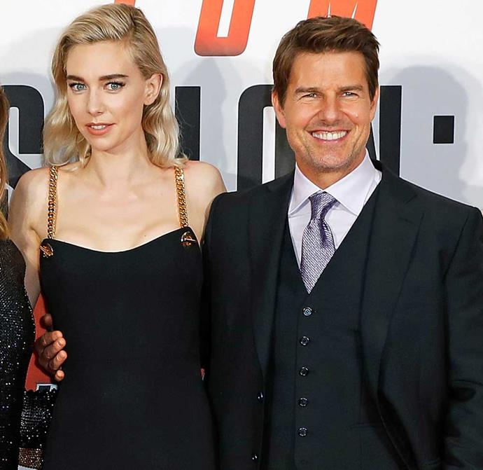 Tom Cruise with his *Mission: Impossible* co-star Vanessa Kirby.