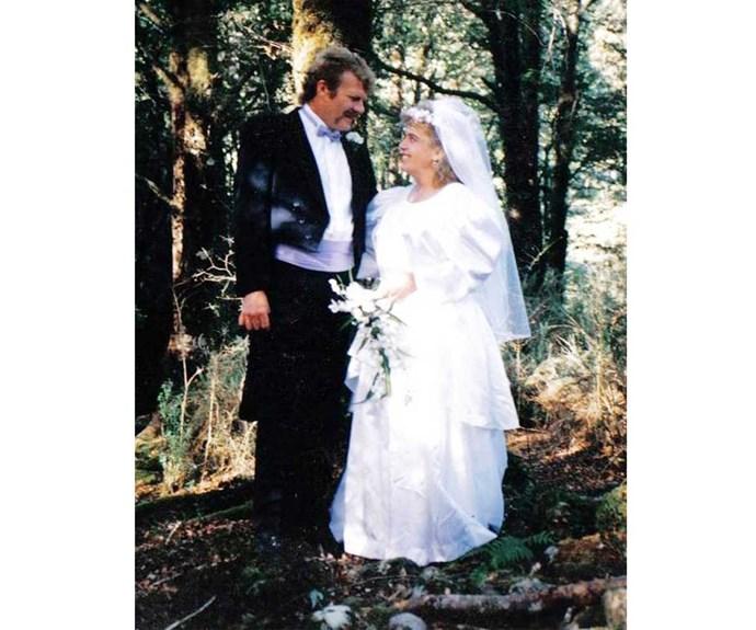 Anna and husband Milton on their wedding day.